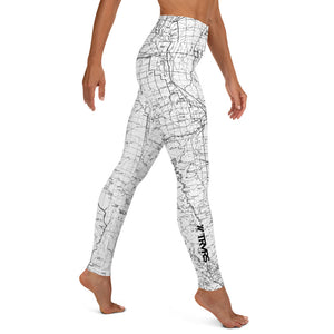 WHITE- Sierra Nevada Mountains-All Over Print Women's Leggings | TRVRS Outdoors, Hiking, trail running, mountaineering apparel