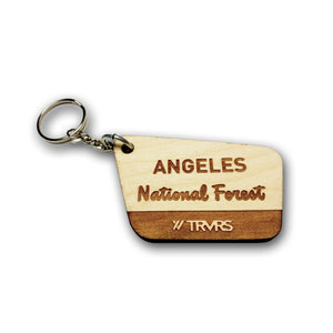 Angeles National Foreset Sign Key Chain | TRVRS Outdoors San Gabriel Mountains Southern California Hiker Trail Runner