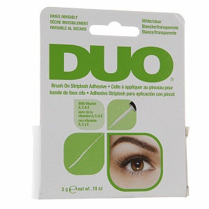 DUO - Brush On Striplash Adhesive (White/Clear)