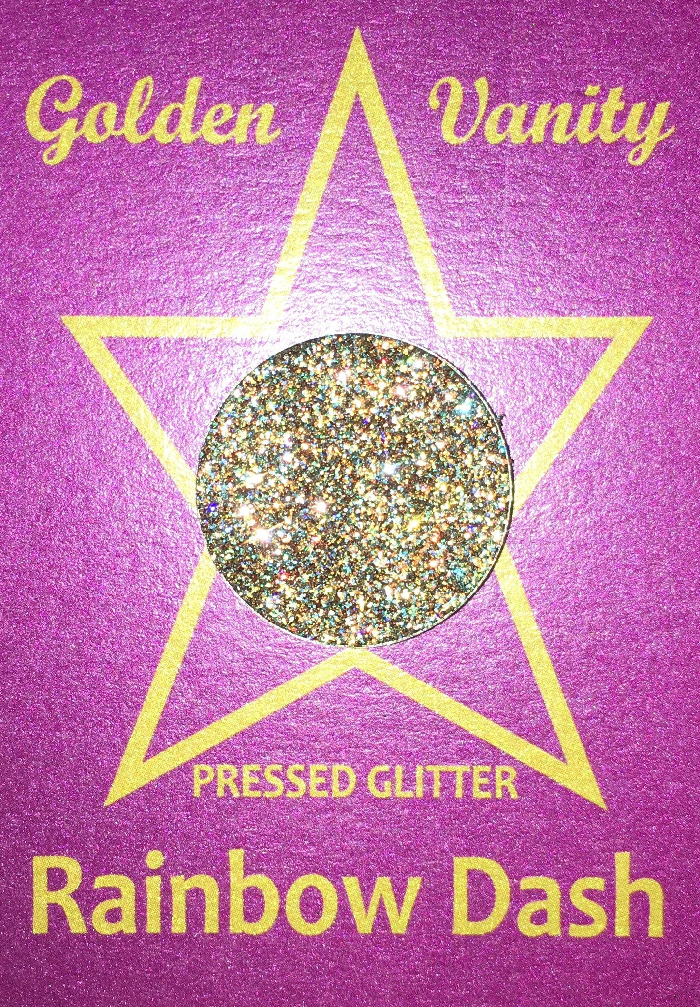 Golden Vanity Pressed Glitter - Rainbow Dash