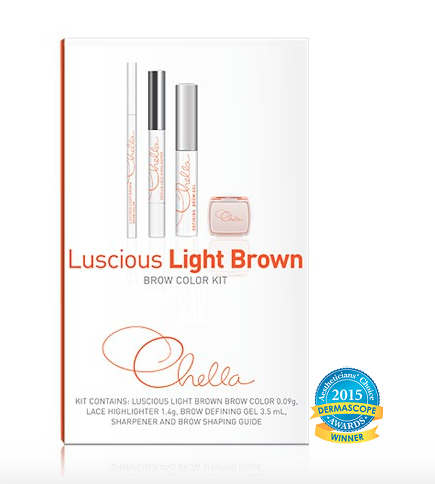Chella Luscious Light Brown Eyebrow Kit
