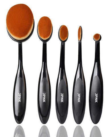 JPNK Oval Style Synthetic Makeup Brushes