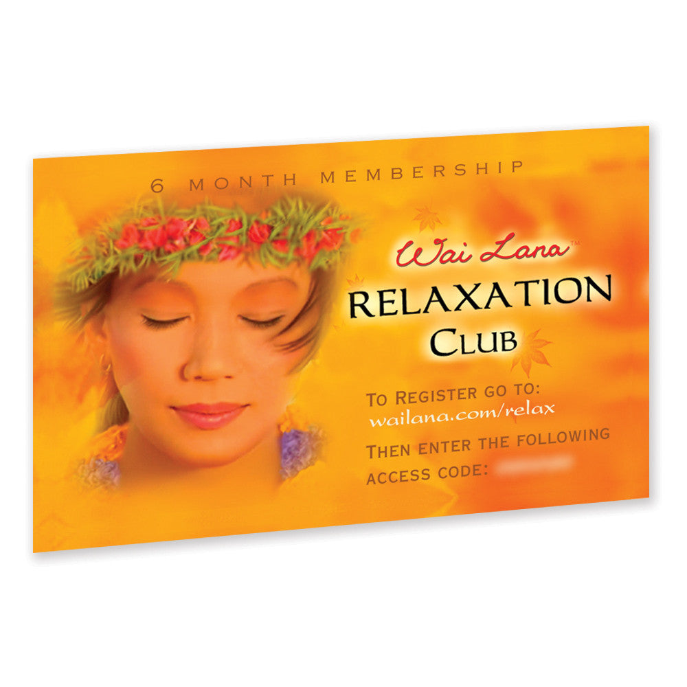 Online Relaxation Club 6 month subscription