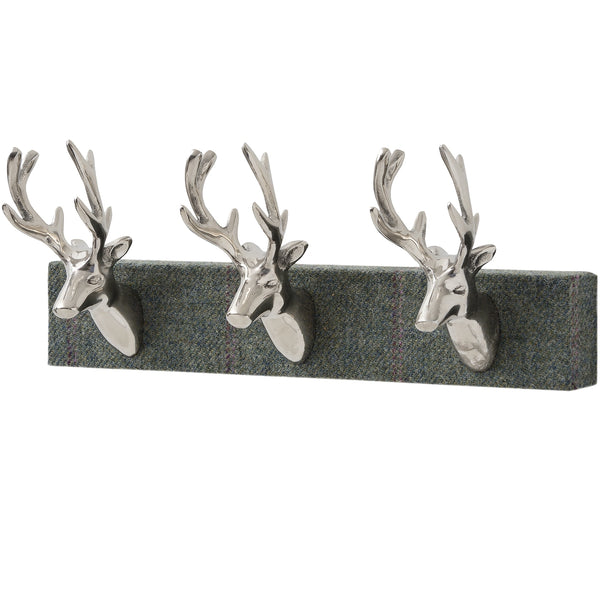 Tartan Stag Head Coat Hook - Stylemypad