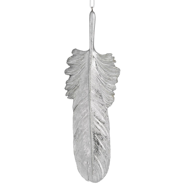 Silver Hanging Feather - Stylemypad
