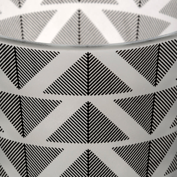 Grey And White Geometric Tealight Holder - Stylemypad