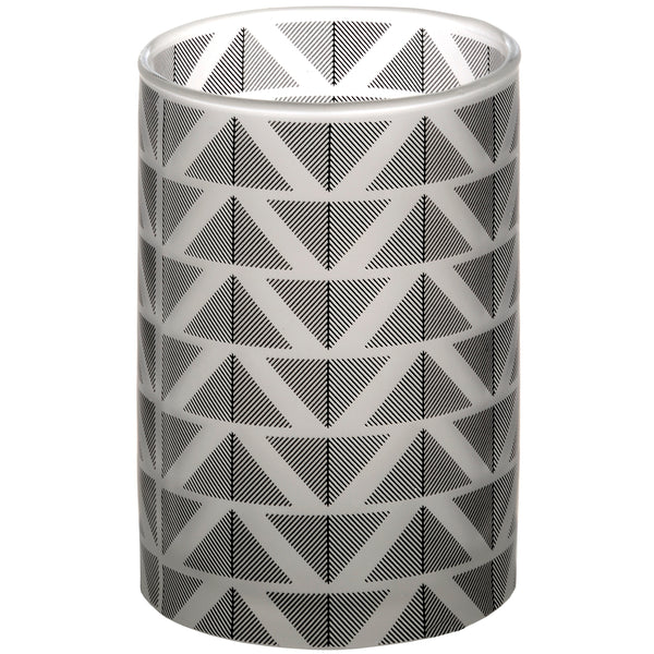 Grey And White Large Chevron Tealight Holder - Stylemypad