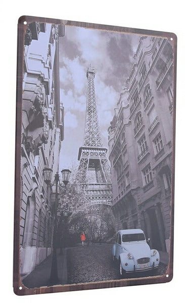 Retro Paris Metal Poster - Stylemypad