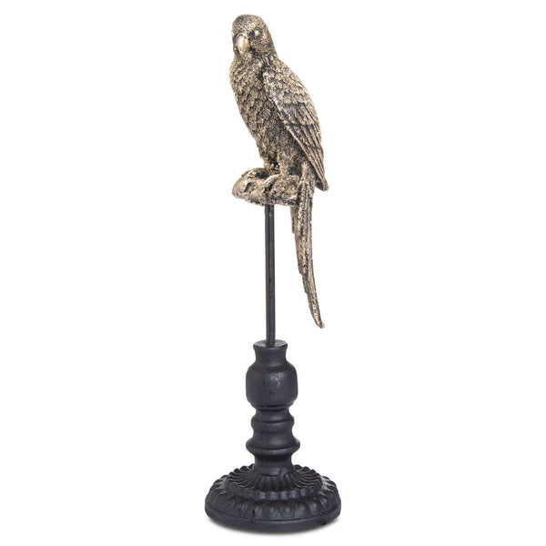 Antique Bronze Perching Miners Budgie - Style My Pad