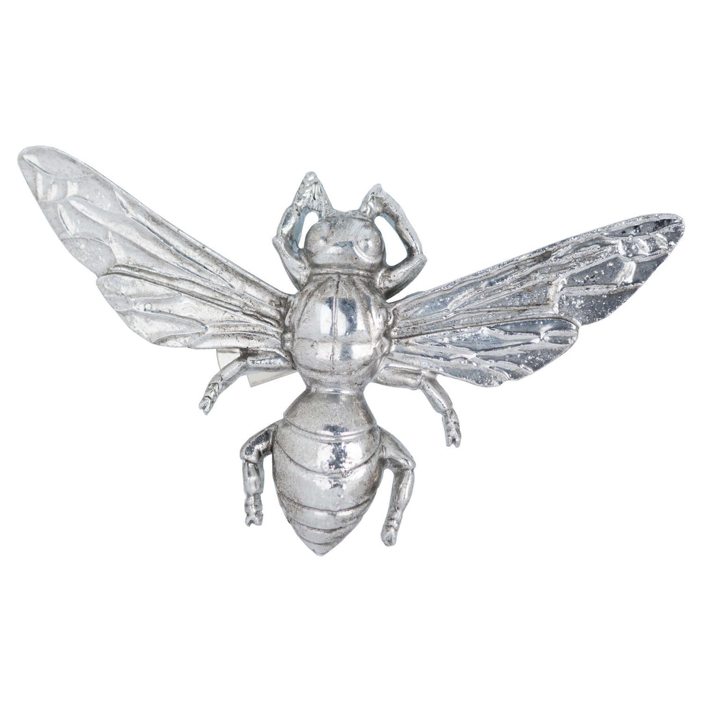 Antique Silver Bumble Bee Decorative Clip - Style My Pad