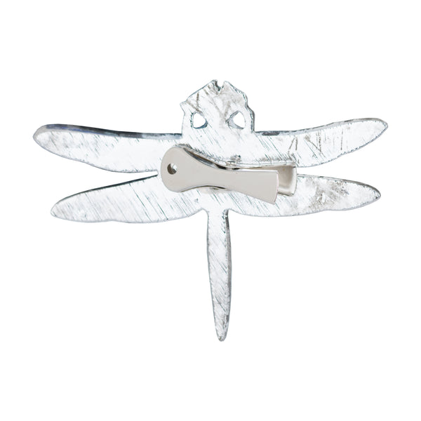 Antique Silver Dragonfly Decorative Clip - Style My Pad