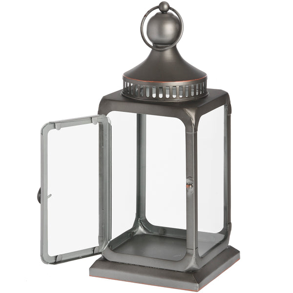 Antique Bronze Industrial Lantern Open - Style My Pad