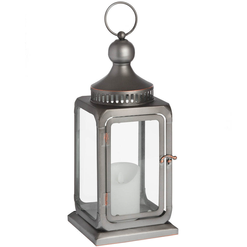 Antique Bronze Industrial Lantern - Style My Pad