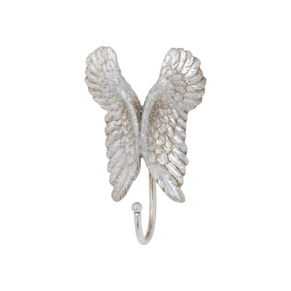 Antique Silver Angel Wings Hook - Style My Pad