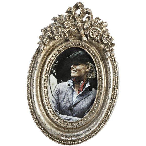 Antique Silver Oval Picture Frame - Style My Pad
