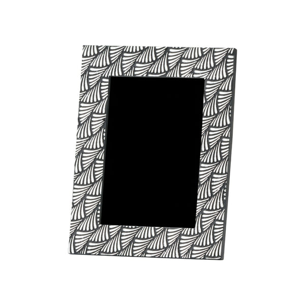 Art Deco Swirl Black and Silver Photo Frame - Style My Pad