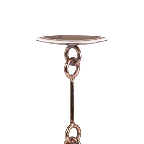 Copper Link Candle Holder Detail - Style My Pad