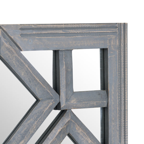 Geometric Diamond Cut Out Wall Mirror Zoom - Style My Pad