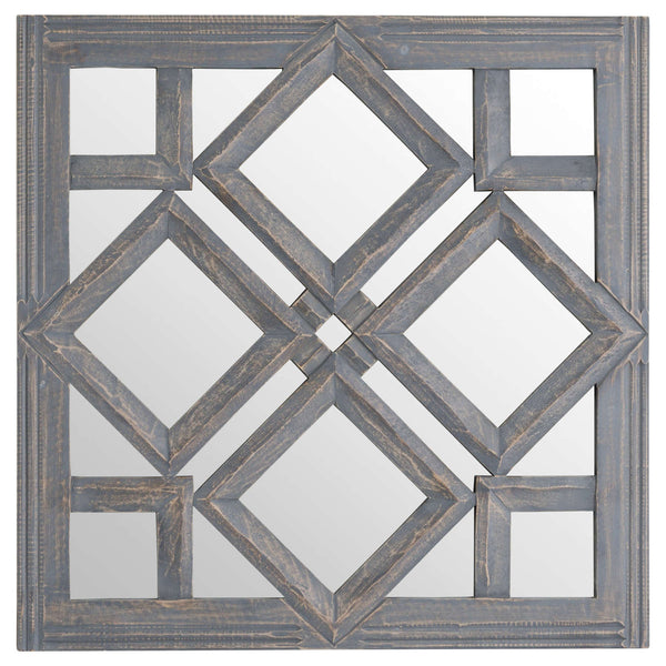 Geometric Diamond Cut Out Wall Mirror - Style My Pad