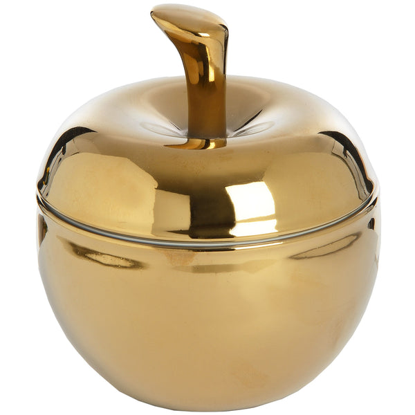 Golden Apple Shaped Trinket Box - Stylemypad