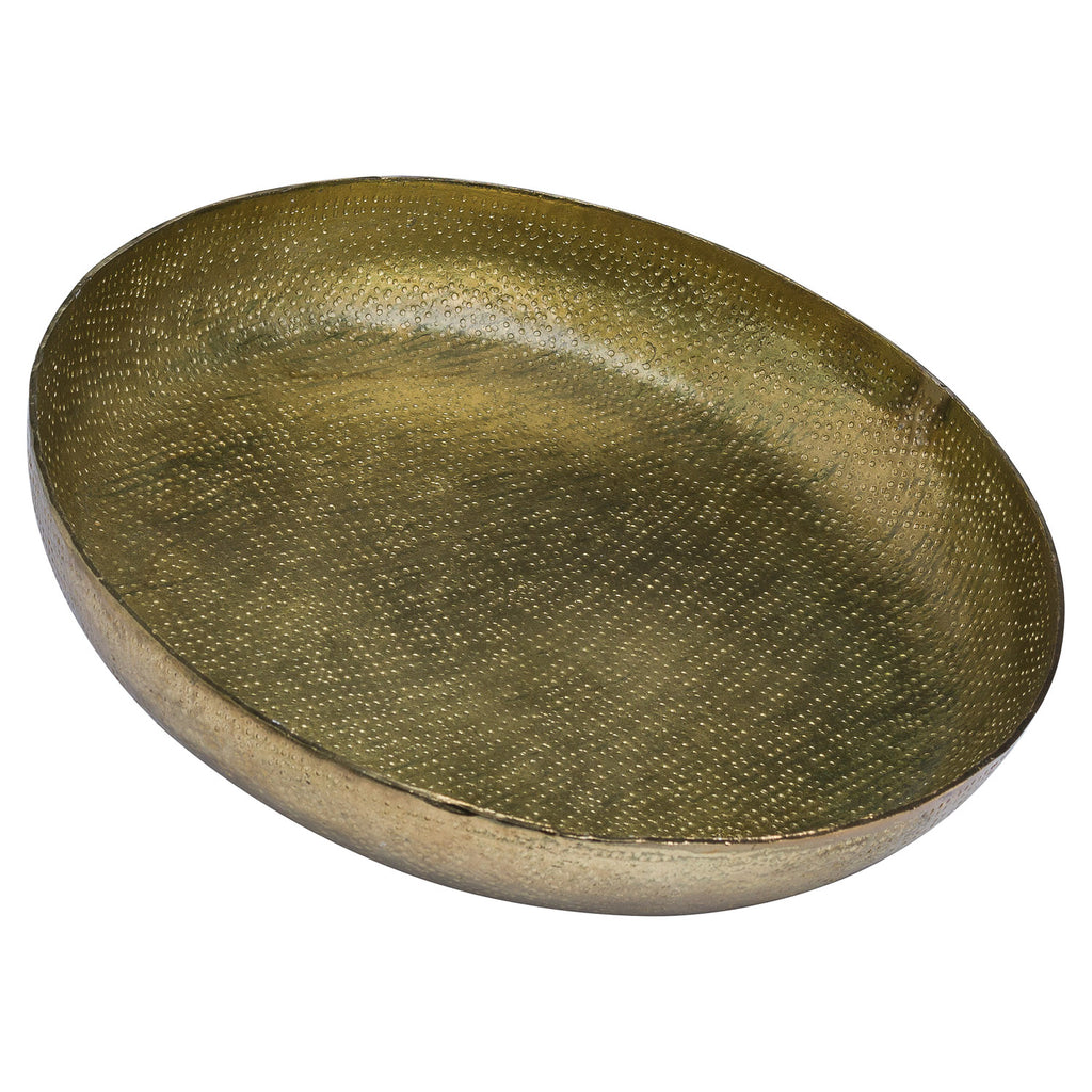 Hammered Metallic Antique Brass Dish - Style My Pad