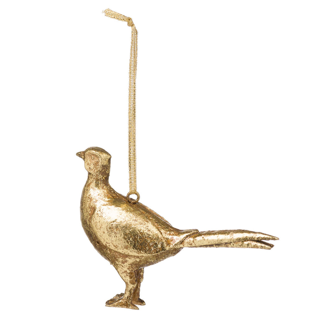 Hanging Gold Pheasant Ornament