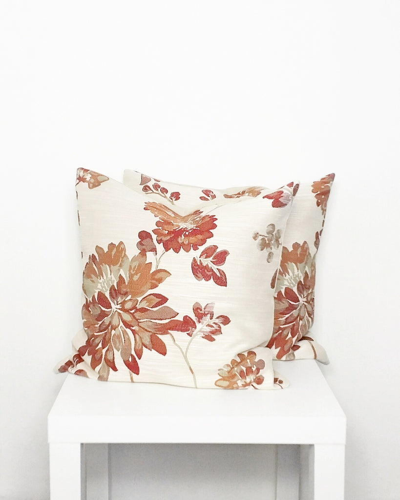 Red Floral Cushion Cover - Stylemypad