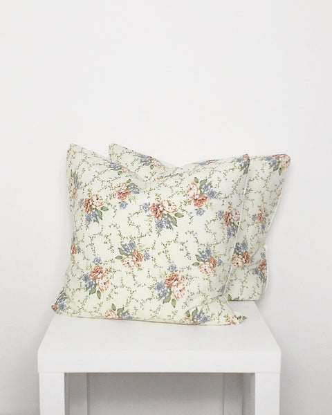 Delicate Floral Print Cushion Cover - Stylemypad