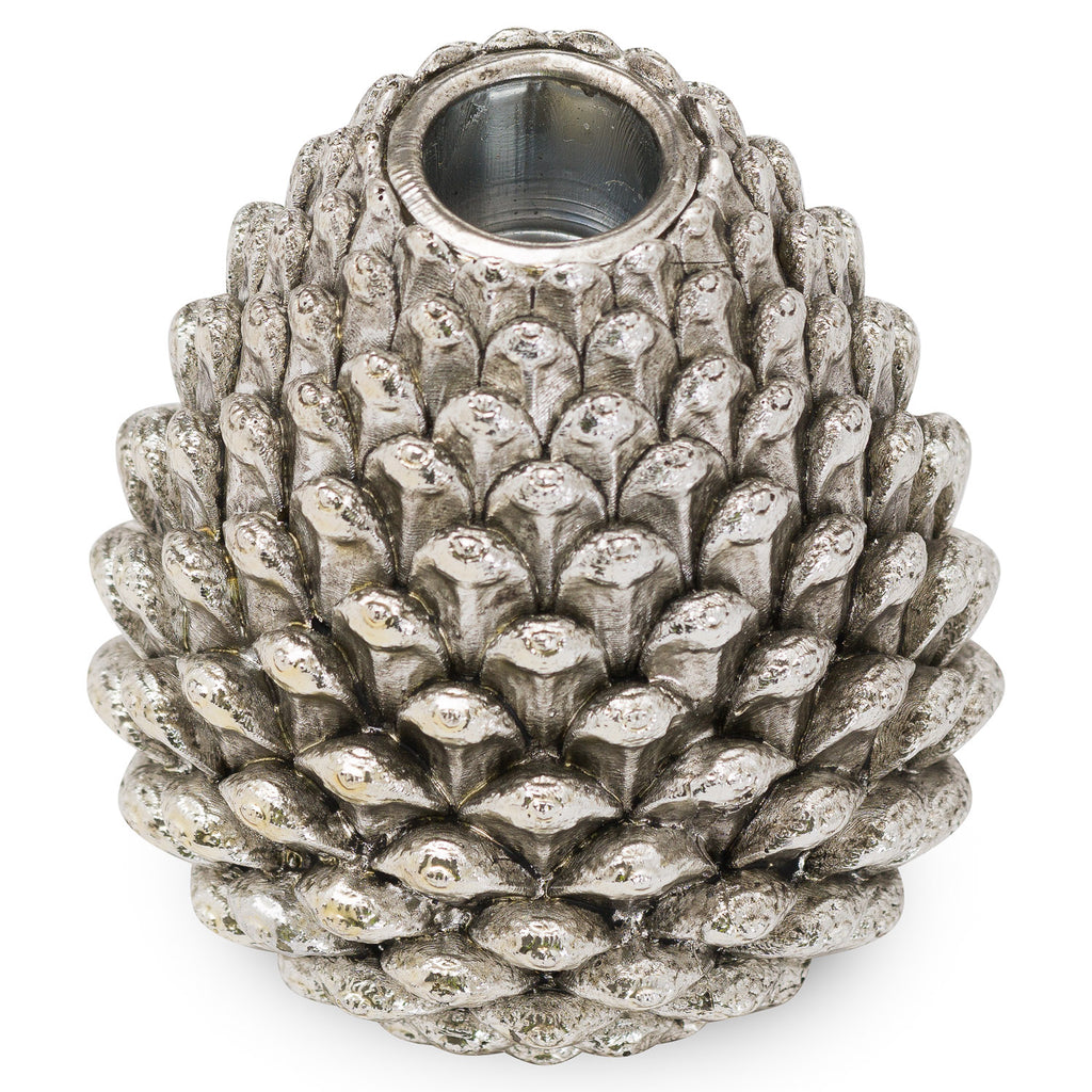 Medium Silver Pinecone Candle Holder - Style My Pad