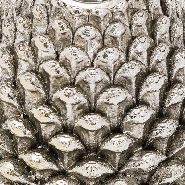 Medium Silver Pinecone Candle Holder zoom - Style My Pad