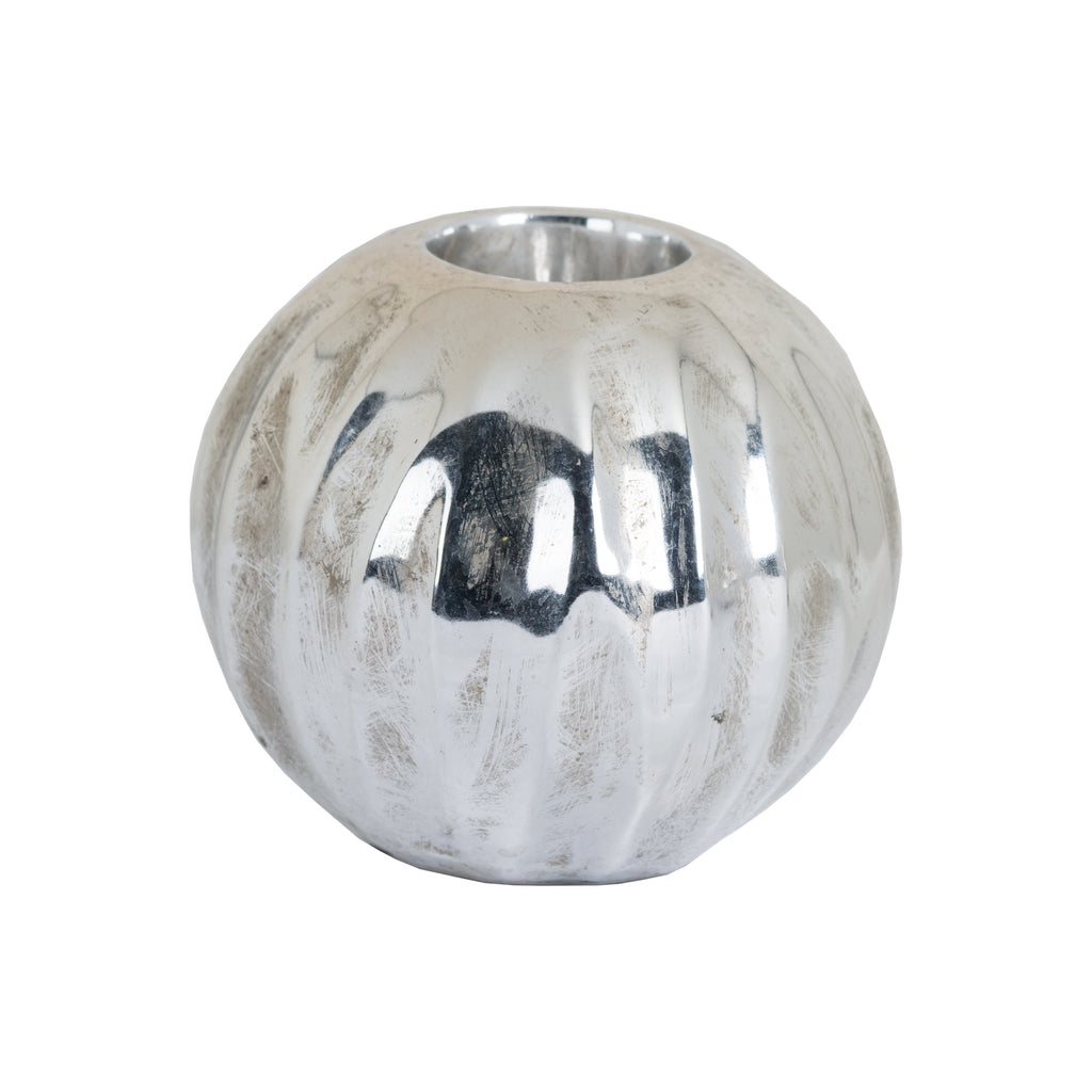Mottled Pewter Tea Light Holder - Style My Pad