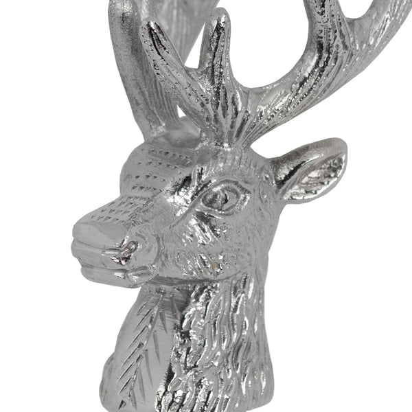 Nickel Stag Head Bottle Stopper Zoom - Style My Pad