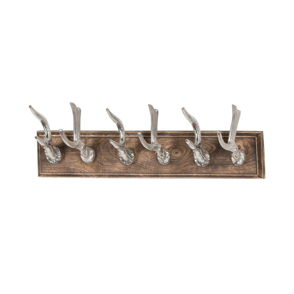 Polished Nickel Stag Hooks - Style My Pad