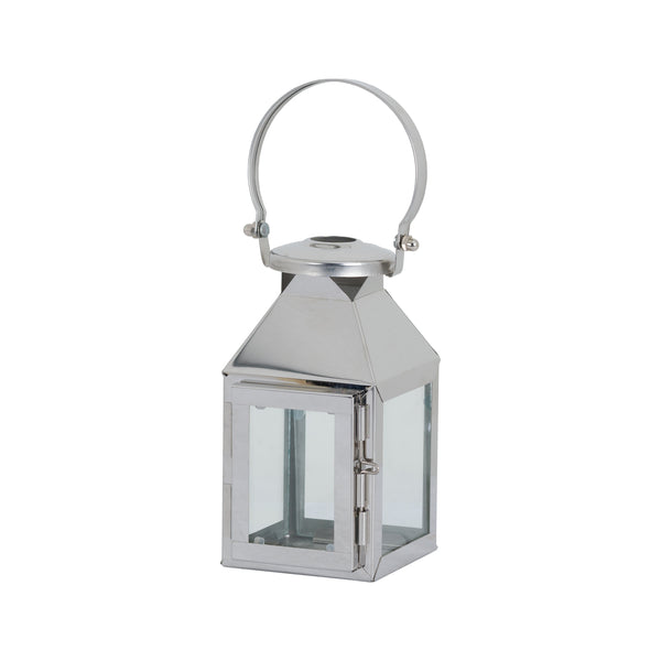 Small Silver Tea Light Carriage Lantern - Style My Pad