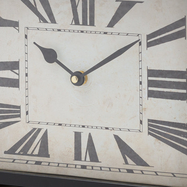 Black and Gold Mantel Clock Zoom - Style My Pad