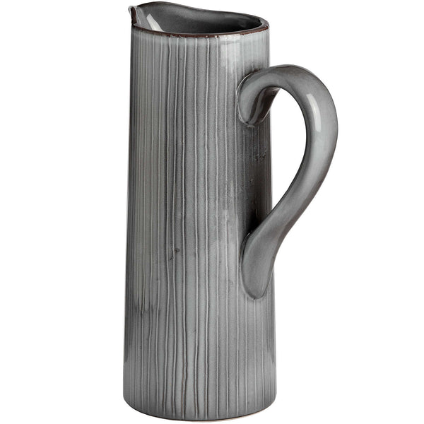 Tall Grey Ceramic Display Jug Back - Style My Pad