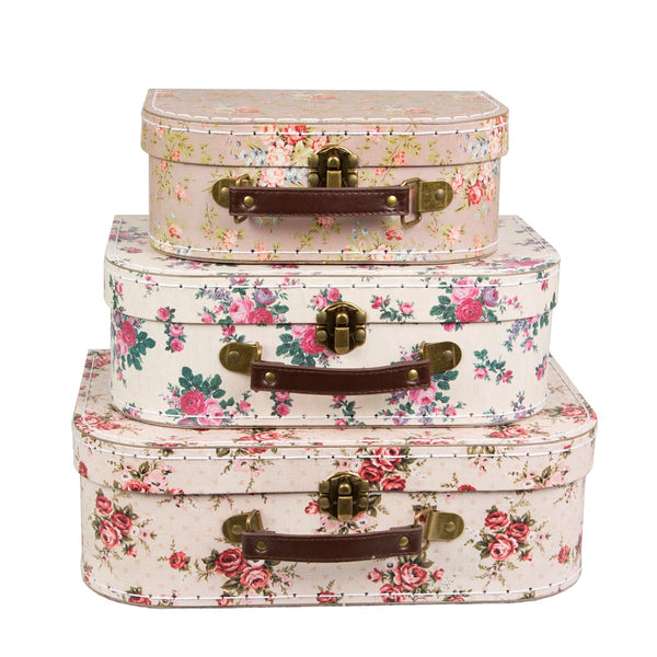 Vintage Rose Suitcases - Set of 3 - Style My Pad