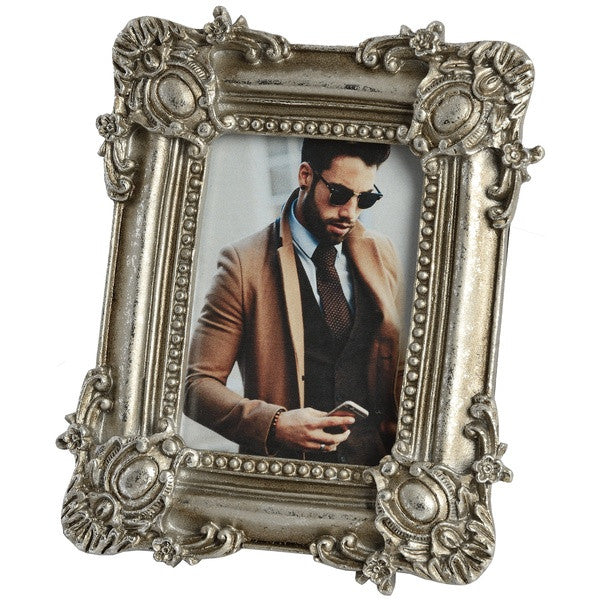 Antique Silver Picture Frame 2.5 x 3.5 - Stylemypad