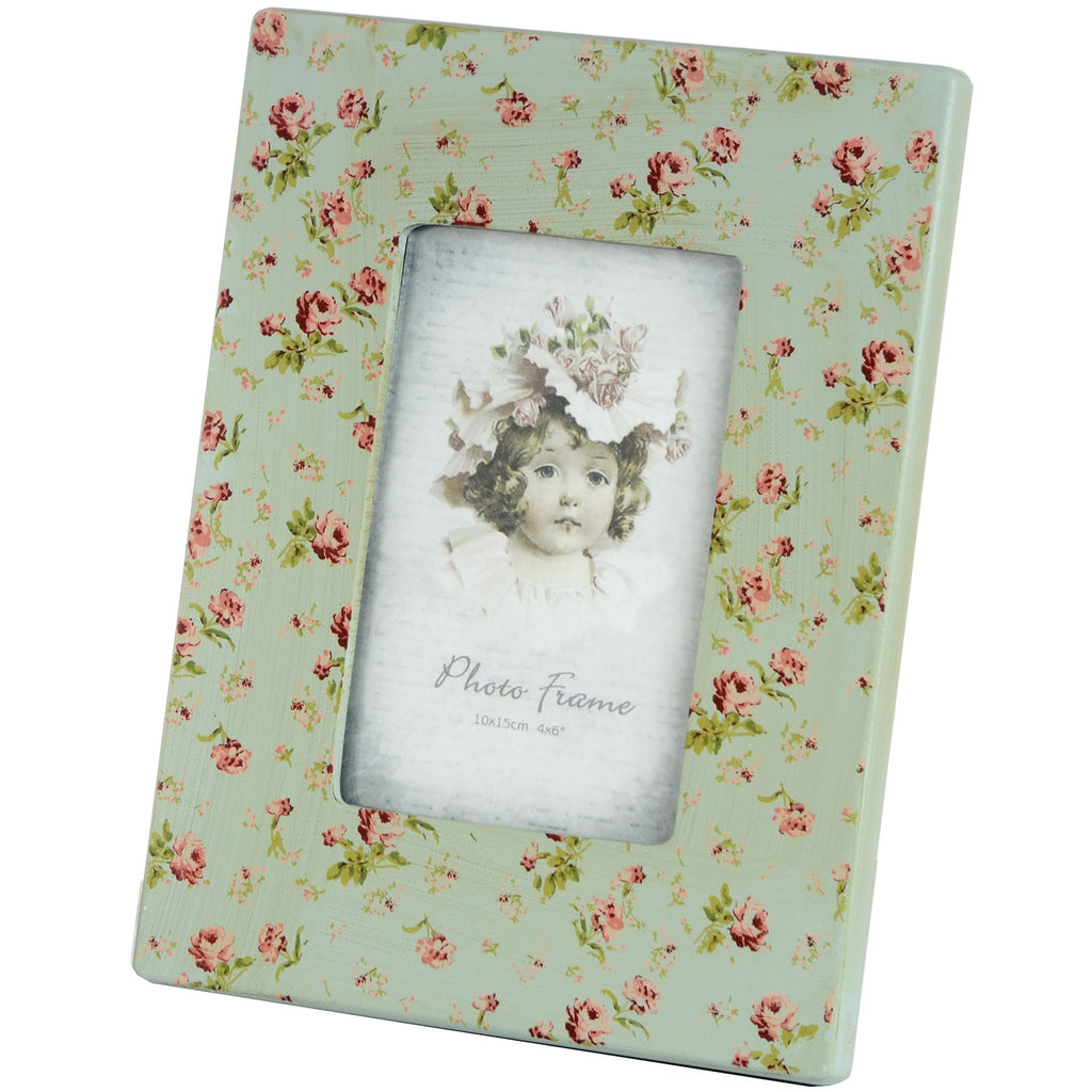 Wooden Floral Picture Frame 4 x 6 - Stylemypad