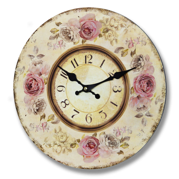 Pink Roses Clock - Stylemypad