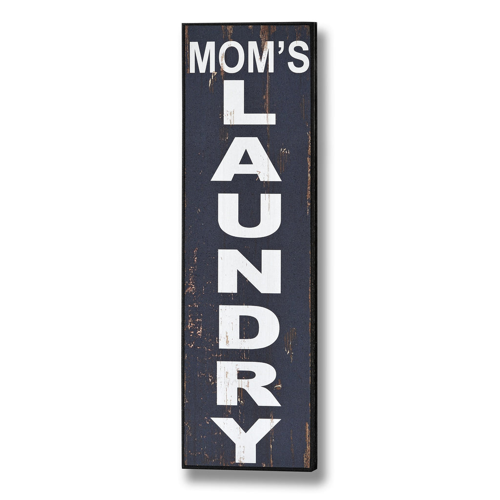 Wooden Wall Plaque 'Mom's Laundry' - Stylemypad