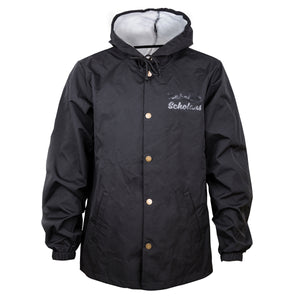 Coaches Jacket w/ hood (BLACK)