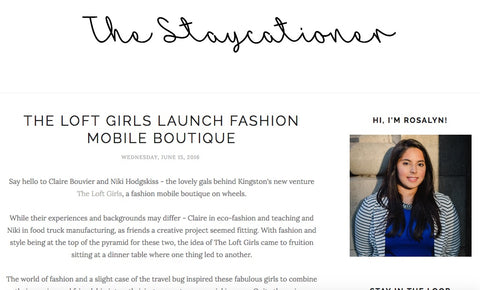 The Staycationer Blog post about The Loft Girls Launch