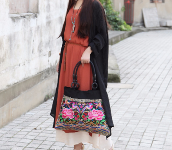 Oversized Hmong Trendy Ethnic Shoulder Bag