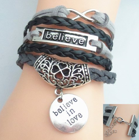 Intricate Crafted Believe in Love Wrist Wrap - Miao + Co.