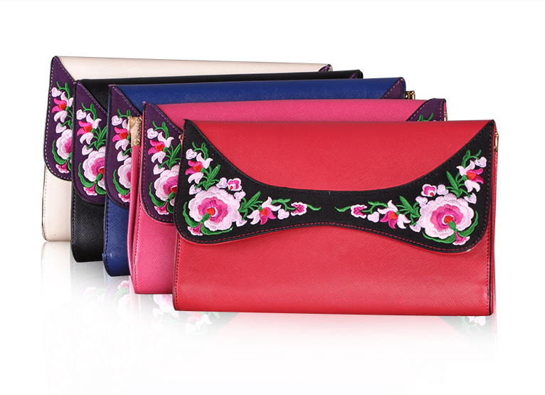 Popular Evening Clutch With Hand Stitched Embroidery - Miao + Co. - 2