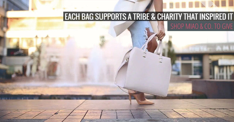 5d883bc7de Fashion for a cause with collections of bags and jewelry. – Miao + ...