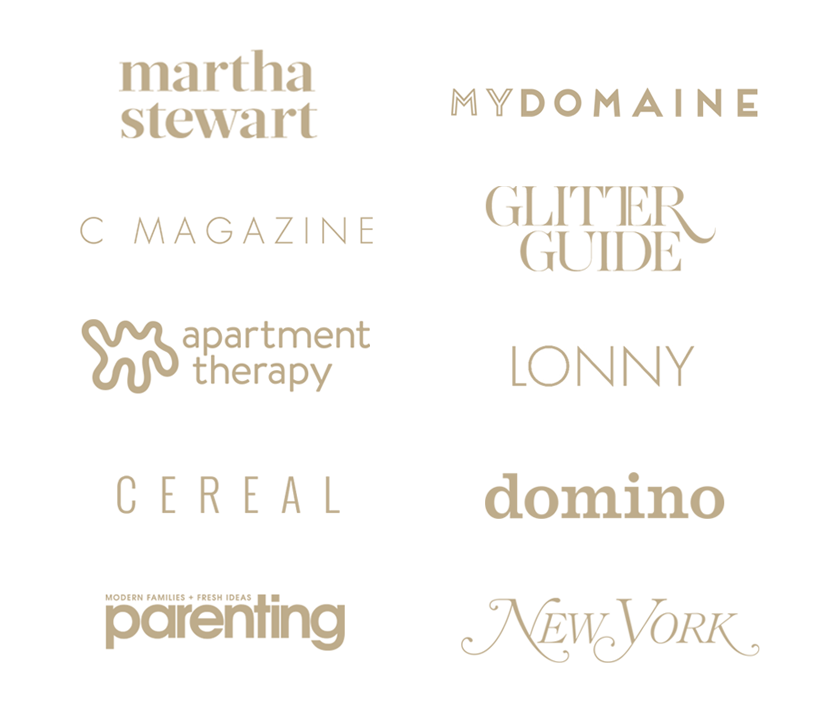 Brand logos showcasing where we've been featured