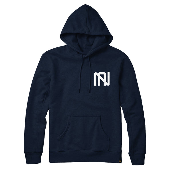Embroidered Logo Hoodie - Navy