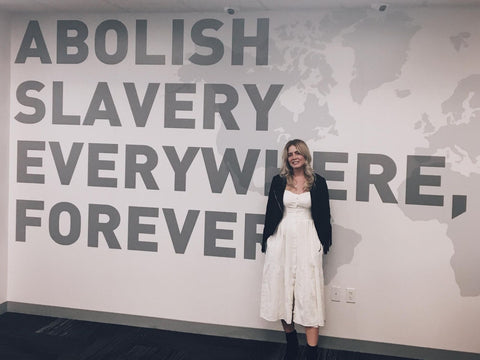 Marina De Buchi fighting human trafficking with A21 slavery campaign